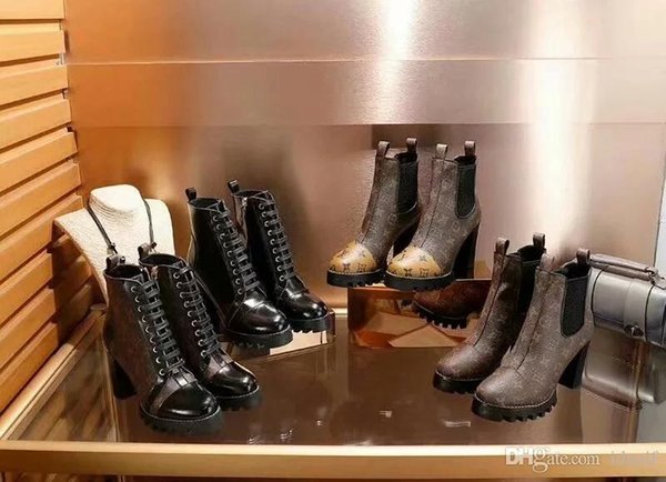 18ss Designers Find Similar World Tour Desert Boot women boots Platform Boot Spaceship Ankle Boots,5cm Heel flamingos medal martin