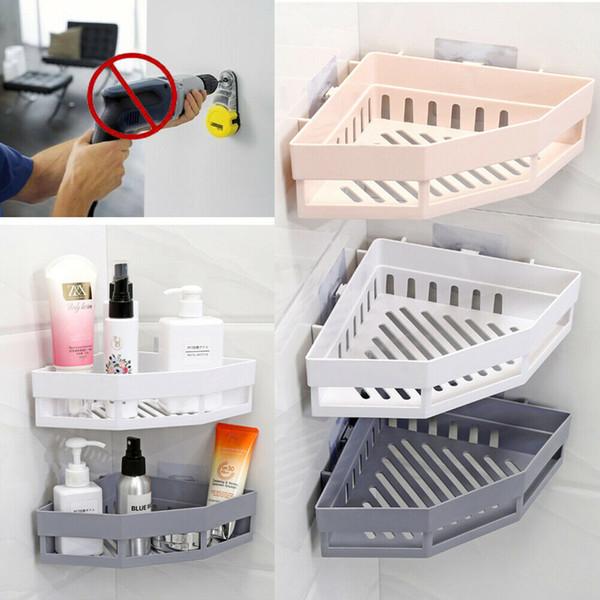 Organizador de suporte de armazenamento de rack de banheira de canto de banheiro de prateleira de chuveiro triangular