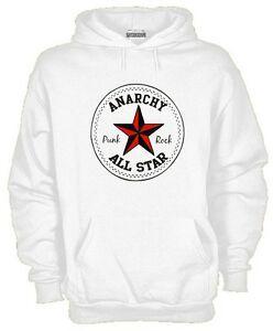 Sweatshirt Music Hoodie kj569 Anarchy Punk RoShirt ALL Star Inspired Music anarchist