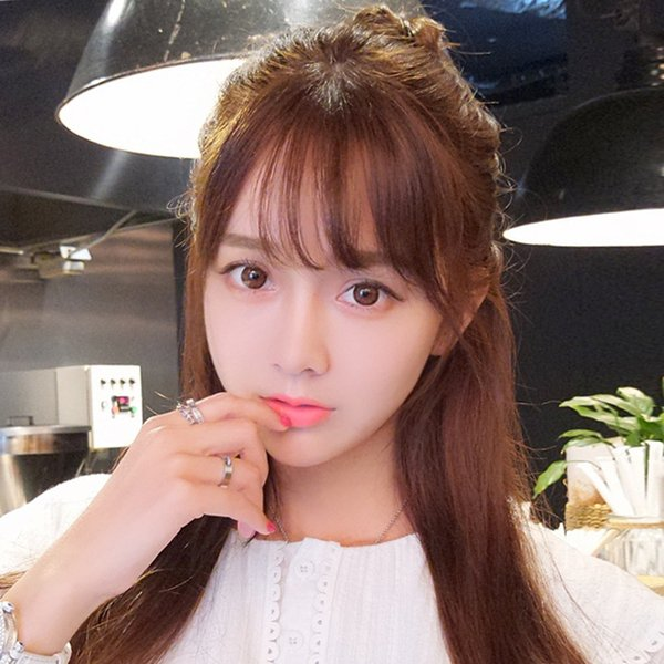 best selling Real hair invisible traceless bangs piece thin mini fake bangs qi