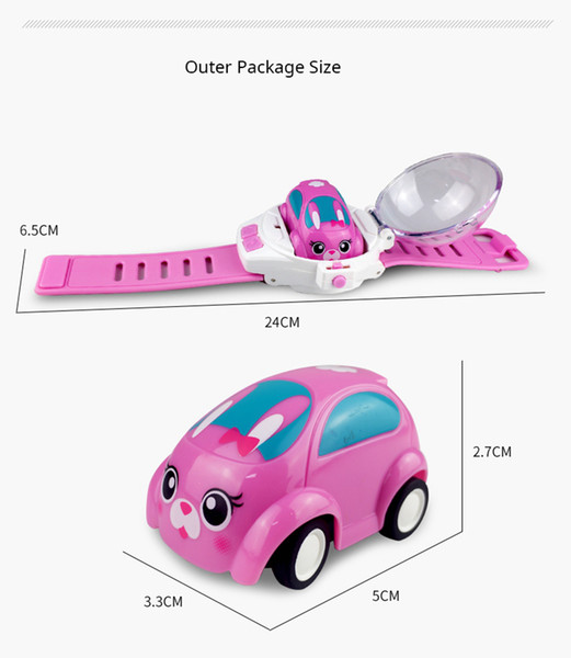Silverlit Portable RC Car safety material Watch Belt Remote control cars toys for children kids birthday x'mas gifts