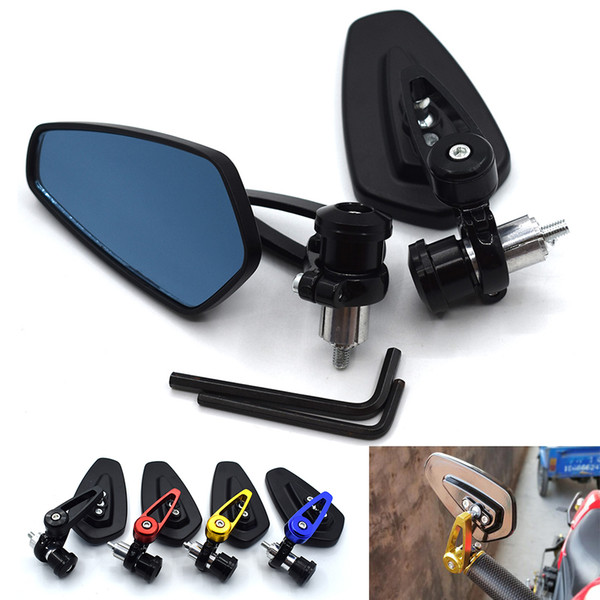 For 1Pair Side Bar End Safety Rearview Mirror Replacement Motorbike Adjustable Double Motorcycle Durable Aluminum Alloy Universal