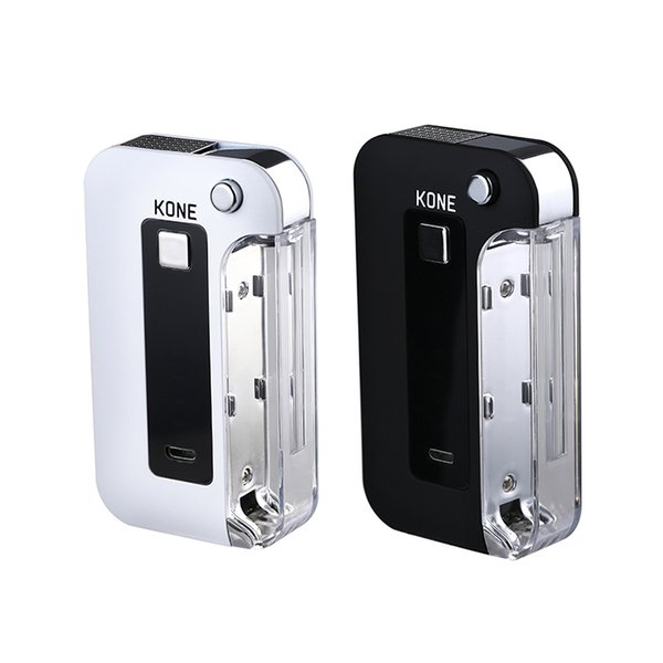 Аутентичные аккумуляторная батарея Kone E Flip Box Mod 900 мАч Большая емкость аккумулятора со светодиодным экраном Боковая крышка Fit 510 Vape картриджей LTQ Vapor