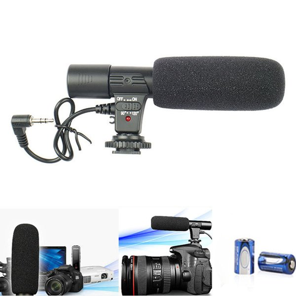 Video Microphone Interview Recording Vlog Mic for DSLR Camera Nikon Canon/Phones LCC77