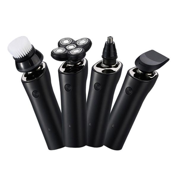 4 in 1 Cinque lama rasoio elettrico ricaricabile per gli uomini del rasoio della barba dell'orecchio del naso trimmer asciutto impermeabile Wet del rasoio da barba macchina