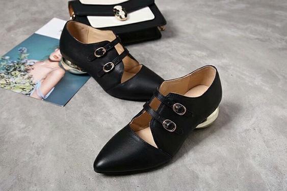 Sivri Yüksek Kalite Tek Düz Günlük Ayakkabılar Yaz Kapalı Kaygan Terlik Kırmızı Yeşil Düz Ayakkabı kore stili 09171
