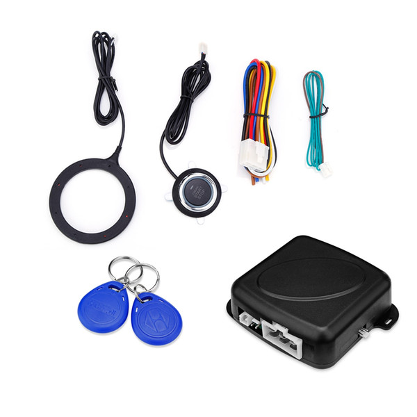 GY902C Car Anti-theft System Engine Push Start Button RFID Lock Ignition Starter Keyless Entry Immobilizer Free Shipping