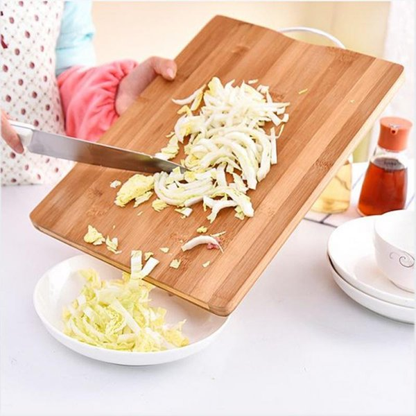 Durable Cutting Board Bamboo Chopping Block Mat Kitchen Accessories Thicken Anti-slip Easy Clean