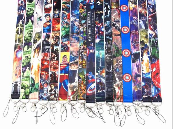 best selling 150 pcs Neck Lanyard ID Badge Key Holder Superhero Anime Characters Multi Selection