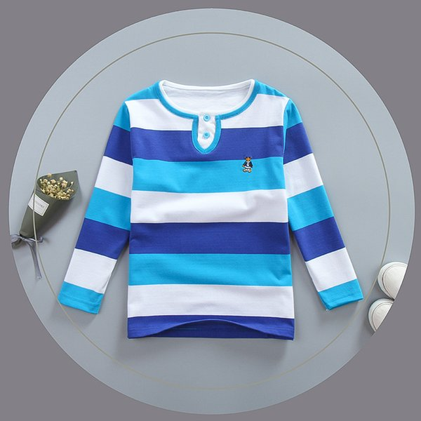 good quality children t-shirt clothing kids boys spring autumn cotton striped tees clothing baby boys long sleeve casual sport tops