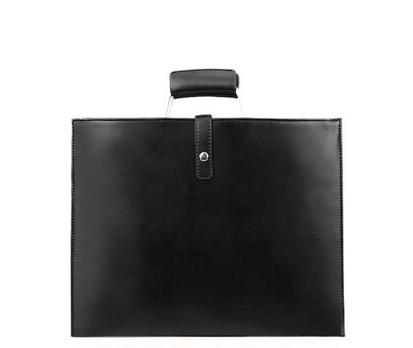 Simple Design Leather Men Briefcase With Metal Handle Business Men Document Bag Classic Office Mens Bags Handbag #511197