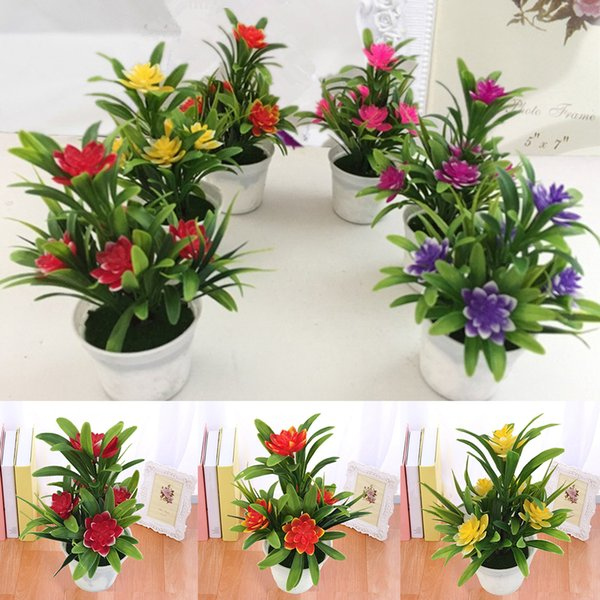 Künstliche Gefälschte Lotus Blume Topfpflanze Bonsai Hochzeit Garten Wohnkultur Künstliche Pflanzen Mit Topf Heißer