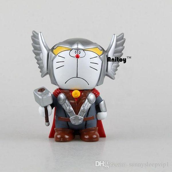Doraemon Cos Thor figuras de acción de la muñeca hucha monedas dinero del banco Juguetes de Colección Modelo animado KT044