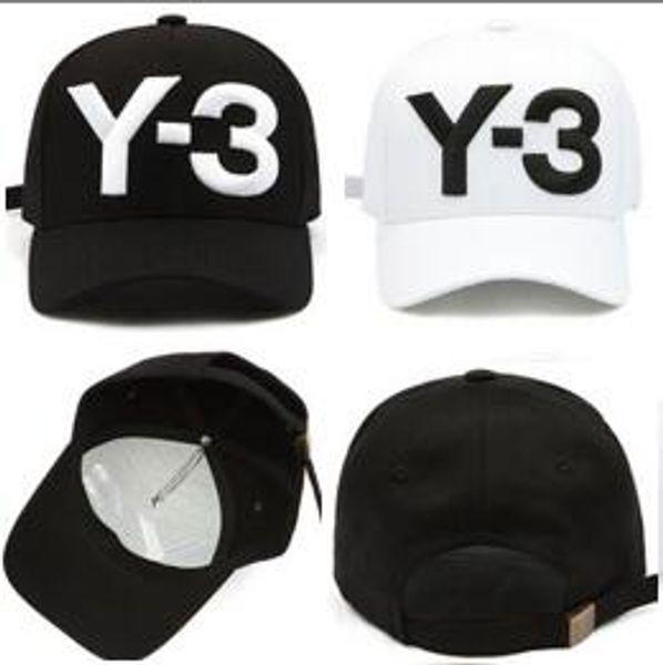 Neueste Designer Y3 Schädel Caps Casquette Y-3 Baseballmütze Gorras Modemarke Baseball Hüte Rennen Headwear Giants Knochen Sonnenhut Luxus Sonnenhut