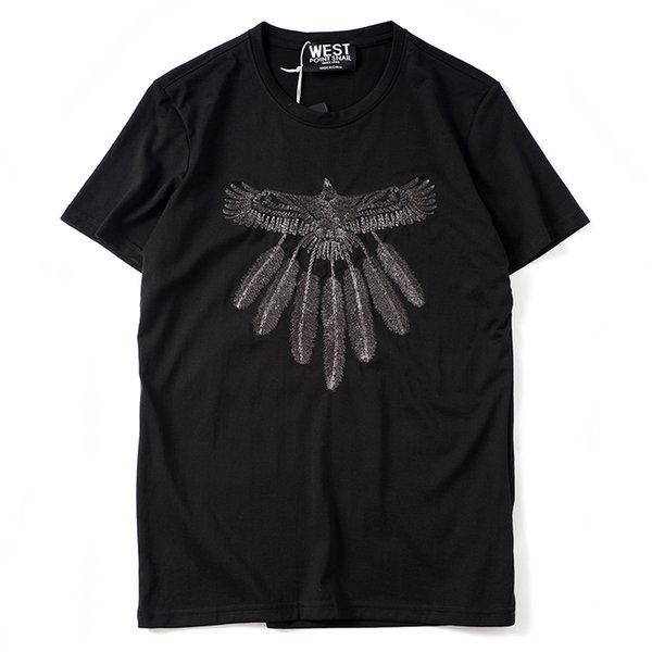 2019 latest HOT best Quality Eagle printing HOT SELL Summer clothes Short sleeved Fashion Trend JOKER T-SHIRTS TOPS