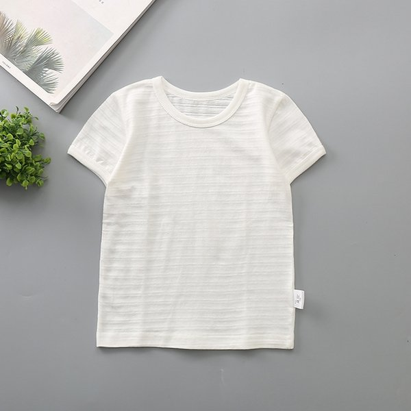 bamboo short sleeve white solid color