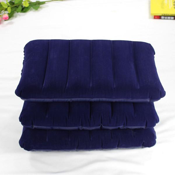 Campeggio gonfiabile affollamento cuscino di sonno cuscino d'aria portatile viaggi a doppia faccia affollamento cuscino testa sonno strumenti QQA440