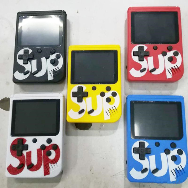 top popular SUP Mini Handheld Game Console Retro Portable Video Game Console Can Store 400 Games 8 Bit 3.0 Inch Colorful LCD Cradle Design 2019
