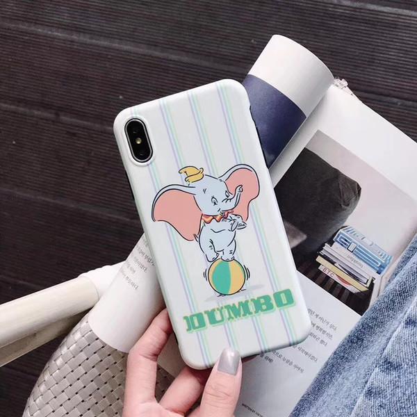 One Piece TPU cas de téléphone belle et de la mode Pour iPhone 6S 7 8 P X XS éléphant nouveau Designer téléphone dos cove