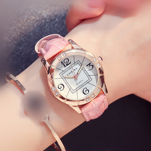 Basit Gündelik Saatler Dropshipping Kadınlar Öğrenci Satış için Yeni Sıcak İzle Chronograph Moda Rahat Hardlex Toka