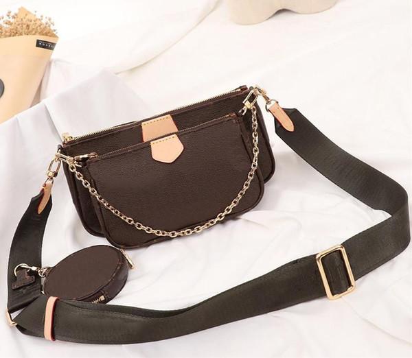 favori çoklu poşet aksesuarları tasarımcısı lüks çanta çanta hakiki deri L çiçek omuz crossbody çanta bayan cüzdan 3 adet çanta