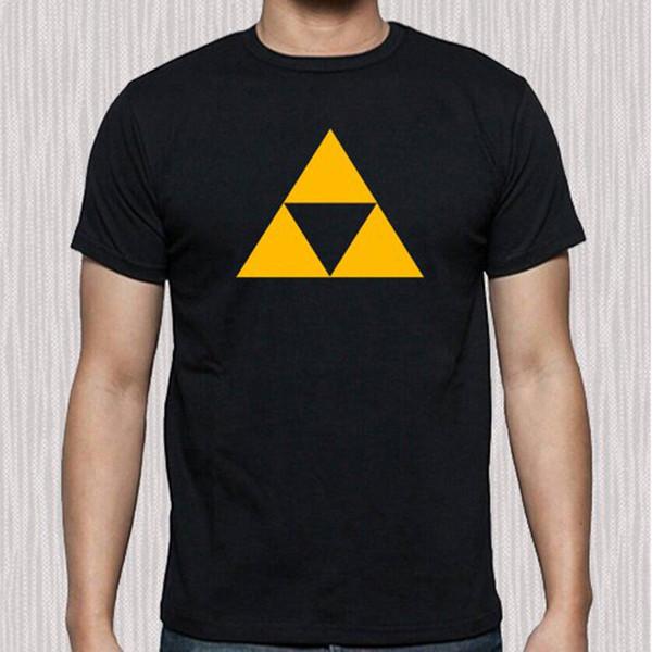 31c974eb0 New Legend Of Zelda Triforce Famous Game Logo Men's Black T-Shirt Size S to