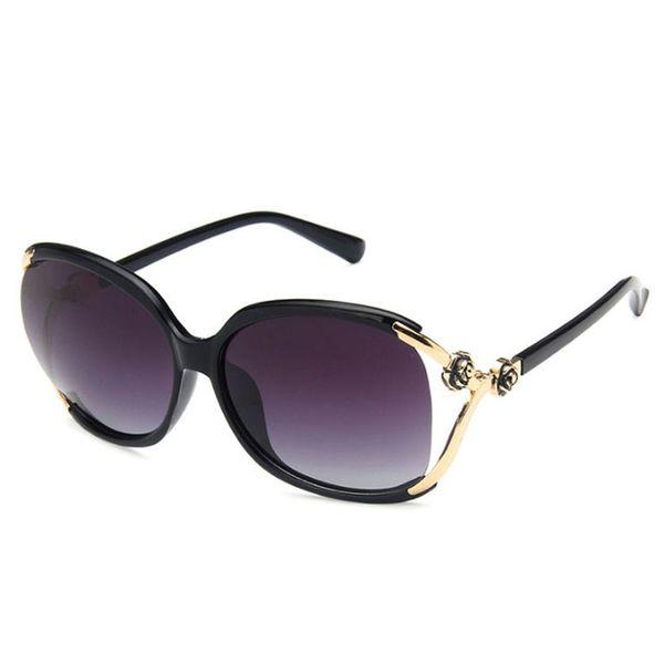 Gafas de sol para mujer Sunglases polarizadas para mujer Moda gafas de sol de gran tamaño Gafas de sol Gafas de sol de lujo Flor Diseñador K8D43