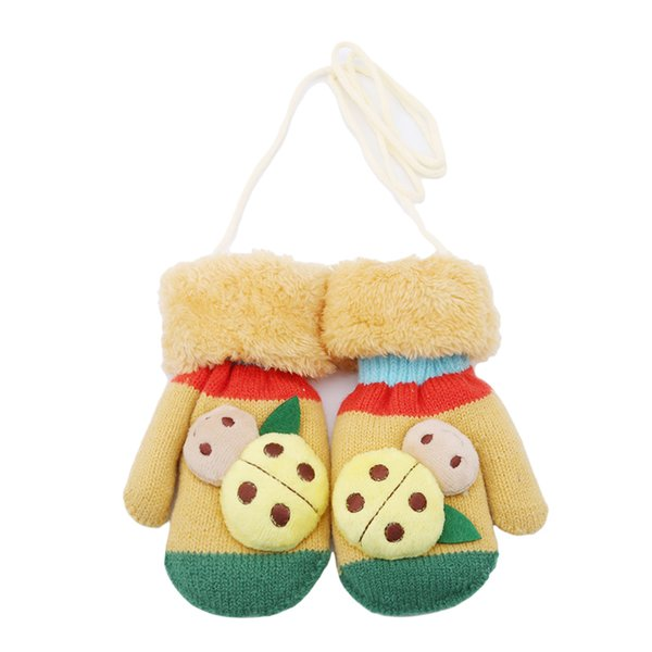 2018 Autumn Winter Children Boy Girl Kids Thicken Warm Mittens Cute Knitte Gloves Fashion Cute Cartoon Animal Kid Gloves