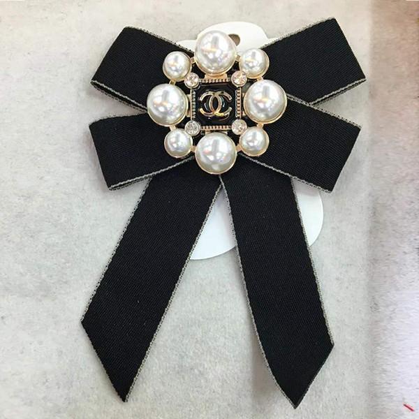 Broche de perlas 3 estilos mujeres Bowknot moda trenza broche Pin Bohemia joyería broches accesorios de la ropa LJJO6802