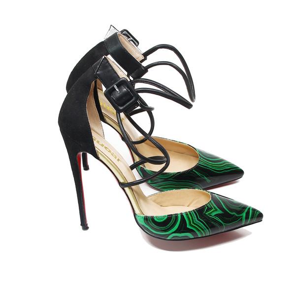 Neue designer lackleder frauen high heels party kleid schuhe wies 8,5 cm 10 cm 12 cm stiletto roten boden pumps größe 35-47
