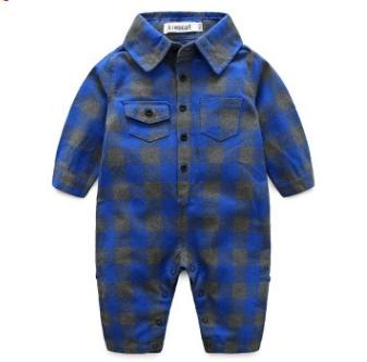 #3 Plaid Toddler Boys Jumpsuits