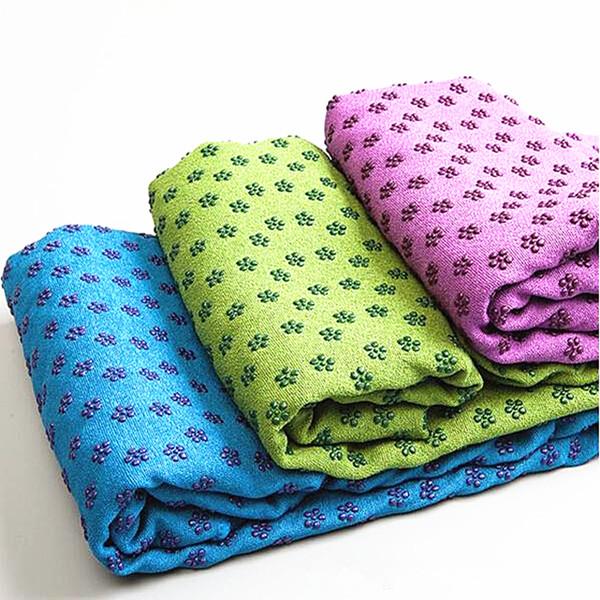 Free shipping anti-skid mircrofiber yoga towel 180x63cm Eco-friendly yoga mat 7 colour 10 piece/lot YT001