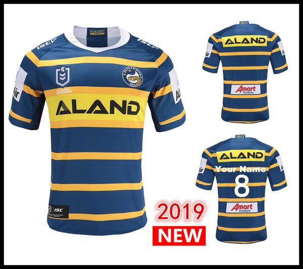 nueva temporada modelado duradero mejor online Compre Números Y Nombres Personalizados 2019 Parramatta Eels Camisetas De  Rugby Locales NRL Camiseta De Rugby De La Liga Nacional De Rugby Camisetas  ...