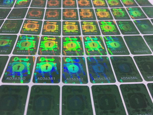 top popular Brass Knuckles Cartridges Anti-counterfeiting Authentic Tamper Resistant Hologram Stickers Serial Numbered 3D Holograms Brass Stickers 2021