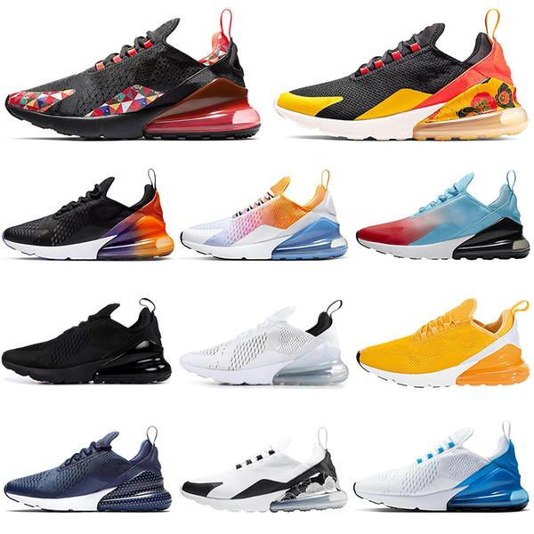 nike air max 270 2019 erkek kadın koşu ayakkabı YAZ GRADIENTS üçlü beyaz siyah Degrade Fotoğraf Mavi IŞIK KEMIK erkek nefes eğitmen Atletik sneakers