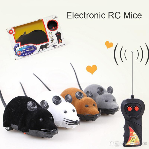 2019 nuevo Drop Shipping Cat Toy Ratón de control remoto inalámbrico Electronic RC Mice Toy Pets Cat Toy Mouse para niños Juguetes Envío gratis