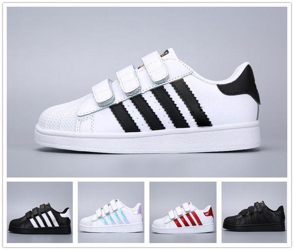 Brand Children Superstar shoes Original White Gold baby kids Superstars Sneakers Originals Super Star girls boys Sports kids shoes 24-35