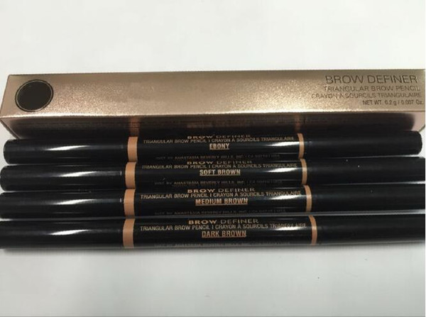 free shipping DHL ! HOT NEW makeup BROW PENCIL CRAYON gold DOuble ended with eyebrow brush 0.2g 4 Color! dhl free shipping