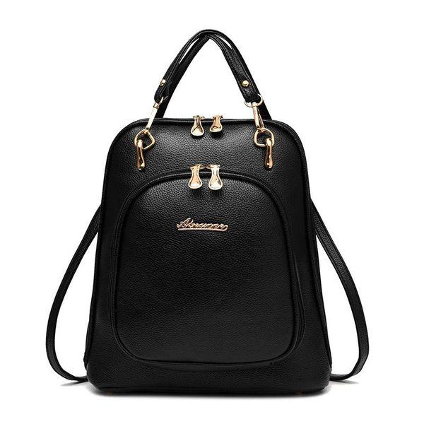 Designer-Backpack Travel Bag Women Girls Waterproof Printing Candy Color PU Bags Small Fresh Handbag Ladies College Wind Girls Schoolbags