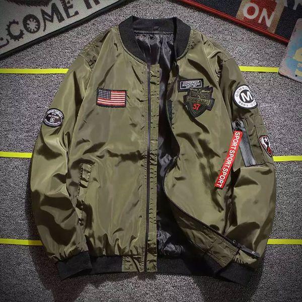 2019 Spring Autumn jacket Golden Wing Jacket MA1 Bomber Flight Young Men Hip Hop Street Clothing Eagle Asian size