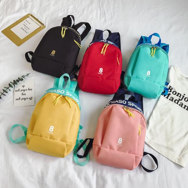 kids backpack Korean children 2019 casual canvas designer hand bags trend fashion boys girls shoulder diagonal package cross body bags