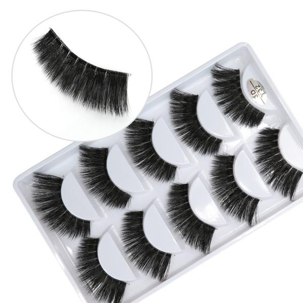 3D-Y32 5pairs/set Y series transparent terrier False EyeLashes 5 Pairs 3D Natural soft silk Eyelashes Handmade eyelashes.
