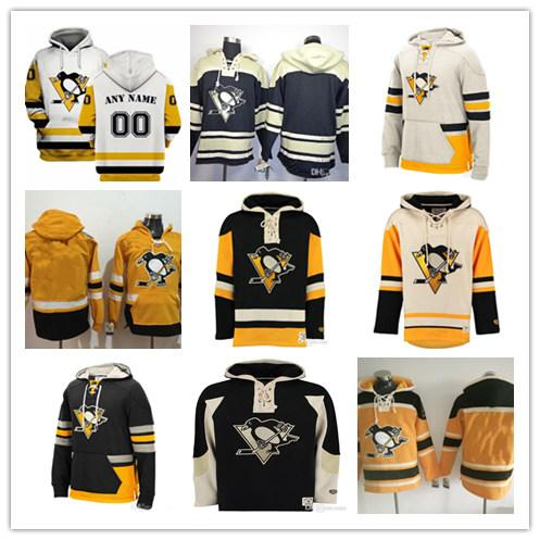 2019 Hombres Pittsburgh Penguins Sudaderas con capucha Sidney Crosby Kris Letang Jake Guentzel Evgeni Malkin Patric Hornqvist Kessel Lemieux Jersey