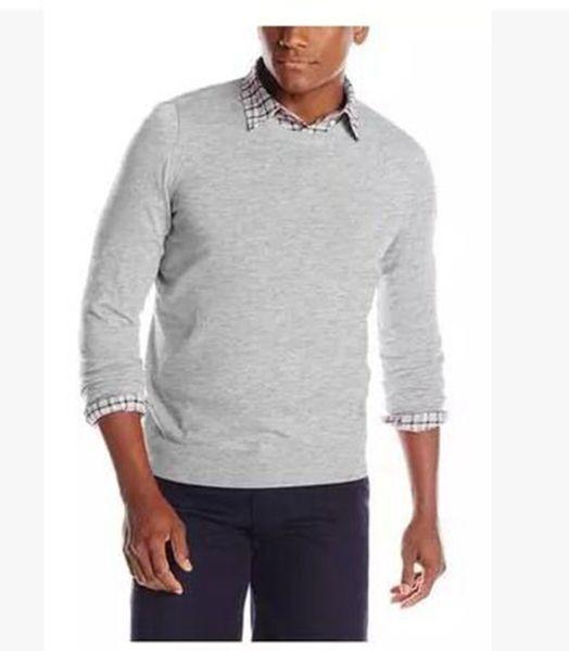L916 nouveaux chandails pour hommes printemps et automne hiver intérieur une base de pull tricots version coréenne de chandails de concepteur pour hommes en vrac