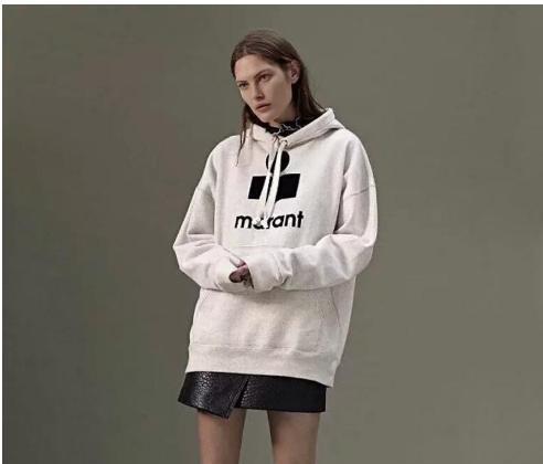 chaud 18FW Isabel Marant Sweatshirts Sweats à capuche Femme Cardigan Femmes Pull Logo Casual Streetwear coton Sweats à capuche Hauts HFLSWY21322