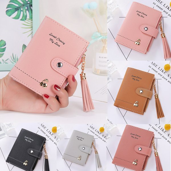 Carteira de couro para mulheres Carteira Small Business Card Holder Bolsa para mulheres