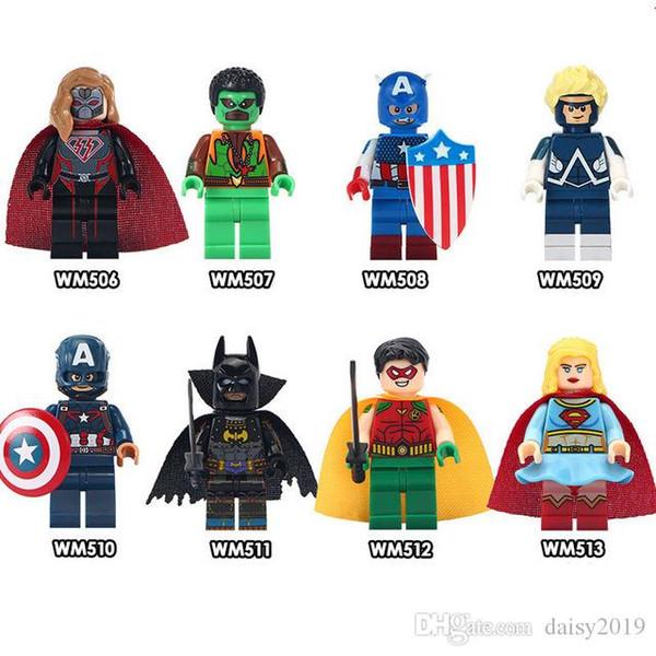 Super Heroes WM6033 Classic Falcon Captain America Animal Man Giocattoli per bambini Regali