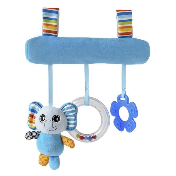 Лучшие продажи мультфильм животных младенца Звук Висячие автомобиля Кровать Подвеска безопасности Сиденье Плюшевые Kid Мягкая игрушка Мобильный коляска игрушки Плюшевые куклы Игра