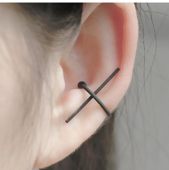Europäische und amerikanische Außenhandels Schmuck Persönlichkeit Geometrie Quer Ohr Knochenclip C-förmigen ohne Batch-Ohr durchbohrt Ohr Ohrclips