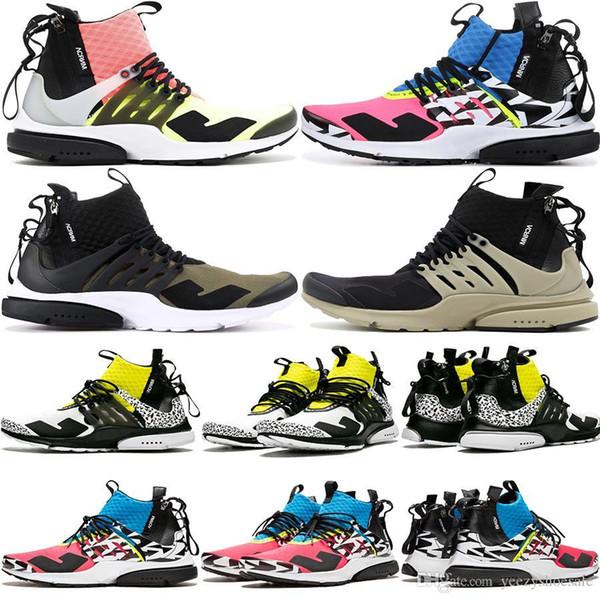 Stile caldo del nuovo progettista di uscita ACRONYM x Scarpe Presto Mid unisex scarpe nero blu rosa Sport Sneakers AH7832-600 Dimensione 39-43